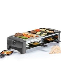 Met ditPrincess 8-persoons Steengrill raclette gourmet set is alles mogelijk. Zo is dit apparaat met 5 in 1 functie zeker multifunctioneel. U kunt het apparaat gebruiken voor grill, raclette, gourmette, steengril en teppanyaki functie